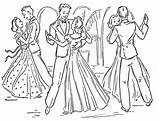 Slow Dancing Couple Coloring Pages Dance Wedding Sketch Template sketch template