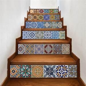 funlife church pattern diy stairway stickervintage With parquet mural