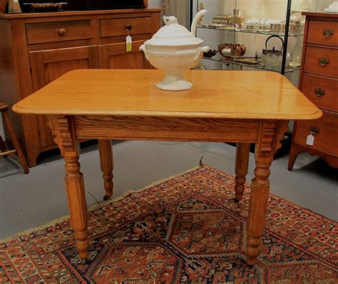 Found In Ithaca » Antique Oak Kitchen Table (sold