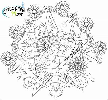 Tinkerbell Coloring Pages Colouring Friends Adult Fairy