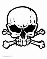 Skull Coloring Pages Crossbones Colouring Pdf sketch template
