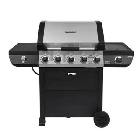 brinkmann gas grill brinkmann 5 burner total propane 60 000 btu gas grill with stainless steel side burner from home