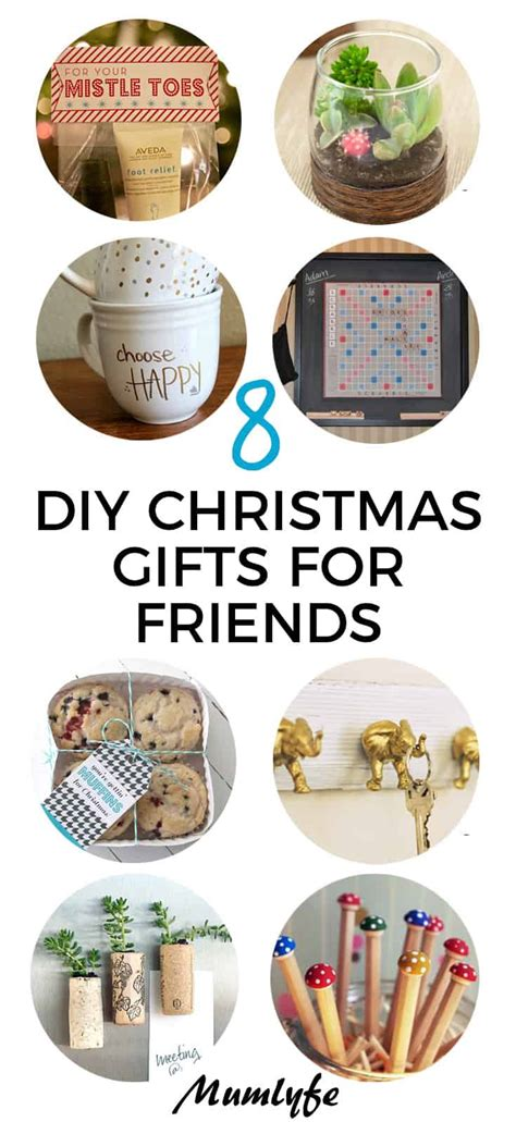 diy christmas gifts  friends easy   tutorials