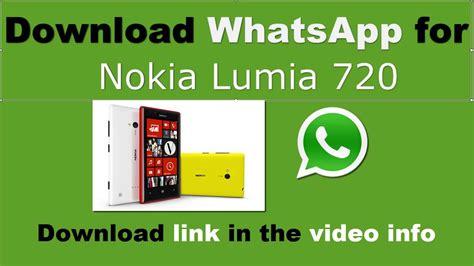 whatsapp pour nokia lumia 720