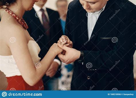 Beautiful Wedding Ceremony Moment Handsome Groom