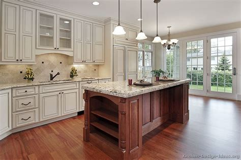 white kitchen wood island pictures of kitchens traditional white antique