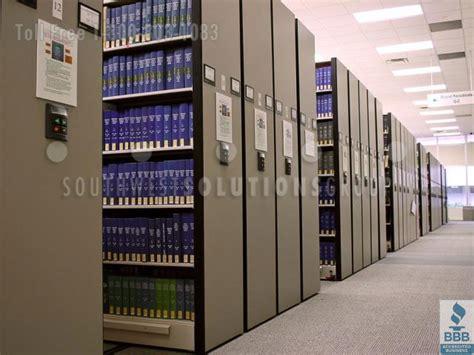 Movable Aisle Library Track Shelving