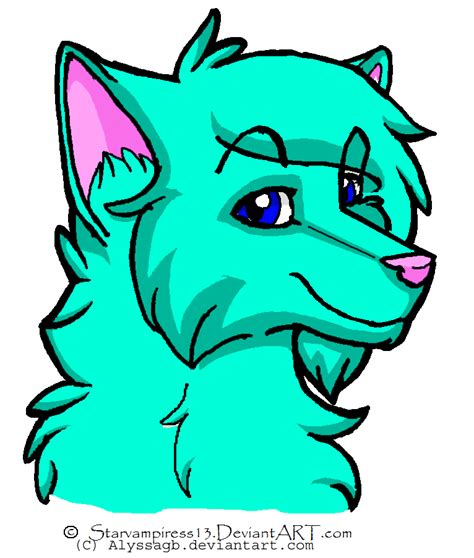 baby wolf cartoon
