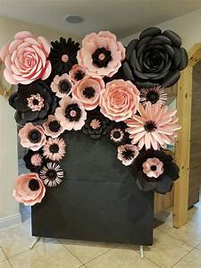 pink and black backdrop flowers Pinterest Backdrops
