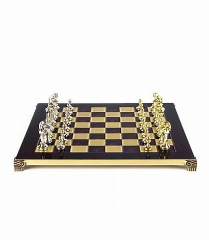 Staunton Metall Klassisches Schachspiel Bronze Schaakset Metalen