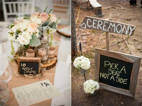 stylish country wedding table decorations table