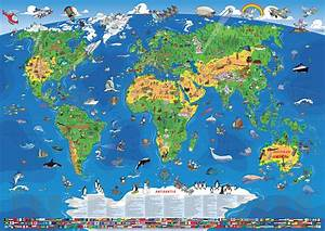 Weltkarte Poster Kinder : weltkarte poster laminiert creactie ~ Yasmunasinghe.com Haus und Dekorationen