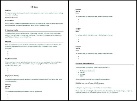 Cv Writting by How Do You Write A Cv Letters Free Sle Letters