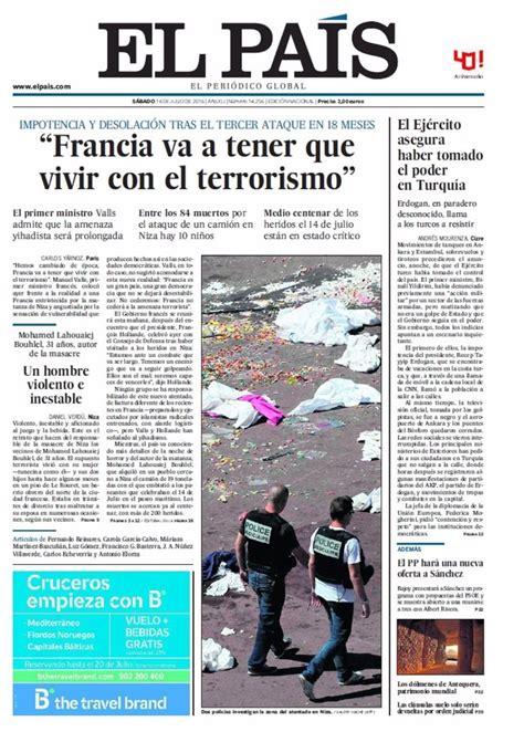 Las portadas de los periódicos de hoy, sábado 16 de julio ...