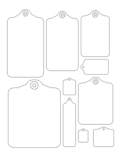 Printable Christmas Tag Templates