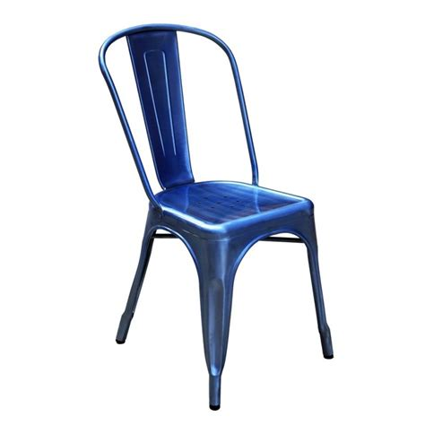 chaise style industriel chaise de style industriel bleu 126 events