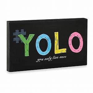 Buy YOLO Neon Wall Art from Bed Bath & Beyond