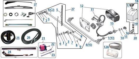 1981 Jeep Cj7 Wiper Motor Wiring Diagram by Cj Wiper Parts 4 Wheel Drive