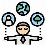 Responsibility Icon Csr Icons Control Premium Management
