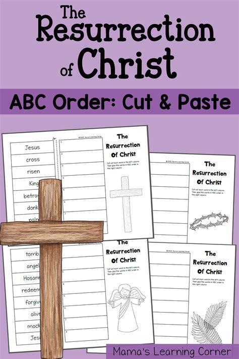 set  cut  paste resurrection worksheets