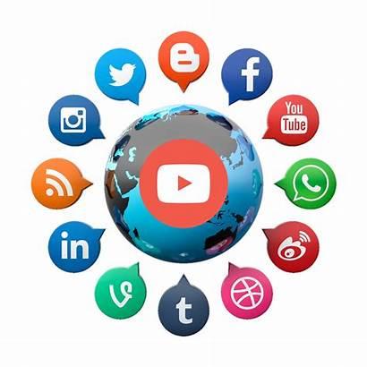 Social Transparent Marketing Follower Networking Sociais Redes