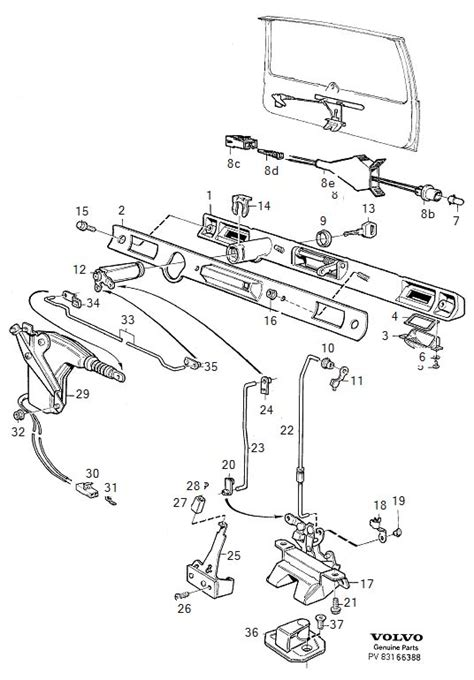 Shift Lock Volvo 850 Wiring Diagram by 1989 740 Turbo Wagon Tailgate Will Not Open Volvo Forums