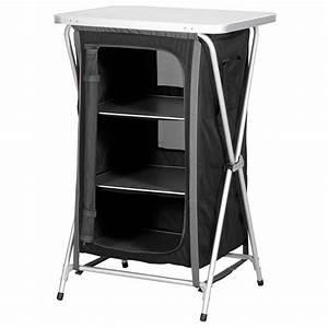 Meuble Rangement Camping : mobilier camping meuble de rangement camping aluminium 3 etageres highlander ~ Teatrodelosmanantiales.com Idées de Décoration