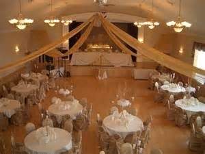 wedding halls banquet decorated for a wedding reception gallery view