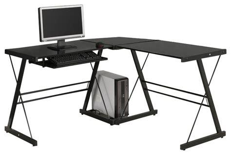 black l shaped desk target walker edison soreno corner l shape glass top computer