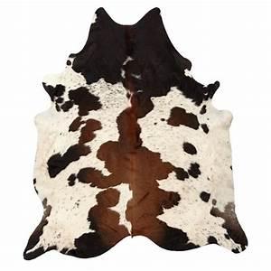 Black and Brown Spotted Cowhide Rug PBteen