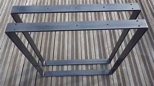 Pied Pour Table Haute : pieds de table rectangulaires en acier plat pour table haute ou console ~ Teatrodelosmanantiales.com Idées de Décoration