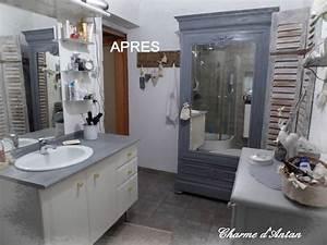 Relooker Meuble Salle De Bain : relooking de la salle de bain charme d 39 antan ~ Melissatoandfro.com Idées de Décoration