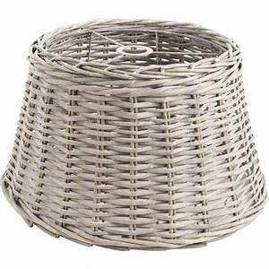 Abat Jour Rotin : abat jour en osier gris nla1521 aubry gaspard ~ Teatrodelosmanantiales.com Idées de Décoration