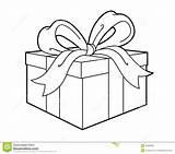 Present Gift Clipart Outline Clip Illustratie Illustrazione Abbildung Presents Line Anwesende Actuelle Huidige Attuale Parcel Give sketch template