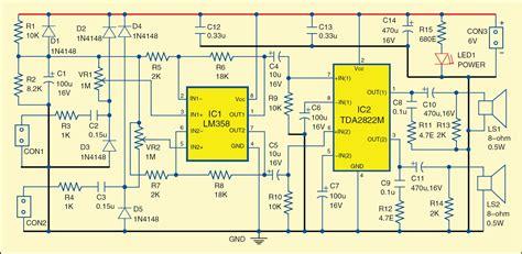 Simple Dual Audio Signal Tracer Circuit Diagram
