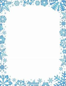 Printable snowflake stationery and writing paper. Free PDF ...