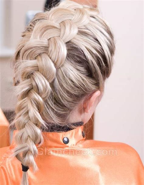 hairstyle how to french braid bun