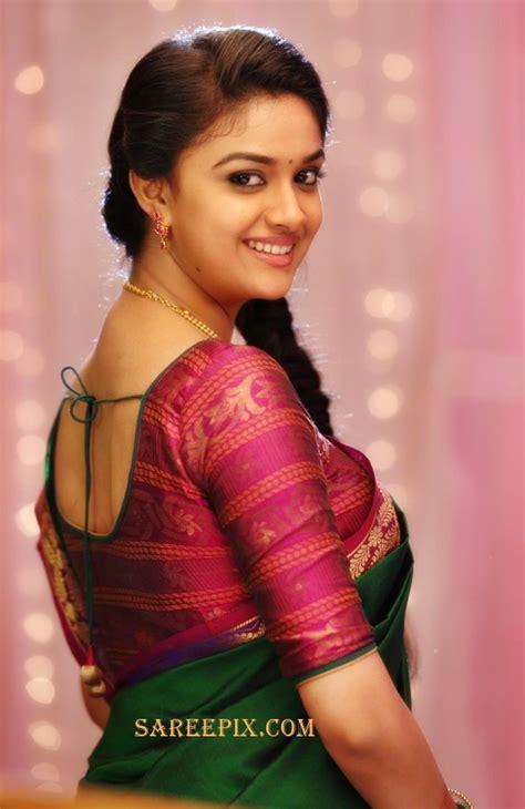 actress keerthi suresh tamil movies keerthi suresh saree look from quot agent bhairava quot movie