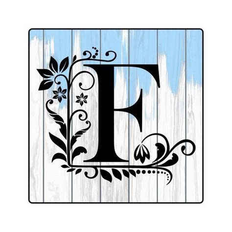 floral monogram floral letter single monogram single floral letter vinyl monogram monogram