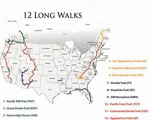 Map, Stats & Journals | 12 Long Walks | The Hiking Life