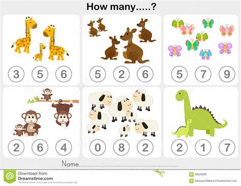 Counting Preschool Worksheets Counting Best Free Printable Worksheets