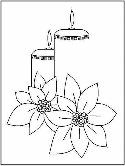 Coloring Christmas Candle Clipart Candles Pages Google