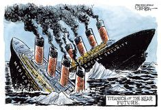 titanic  political cartoons images political