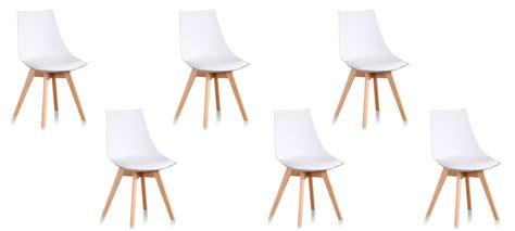 lot 6 chaises blanches chaises design vendues par lot de 6 prix en baisse