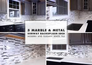 mirror tile backsplash kitchen 5 modern white marble glass metal kitchen backsplash tile