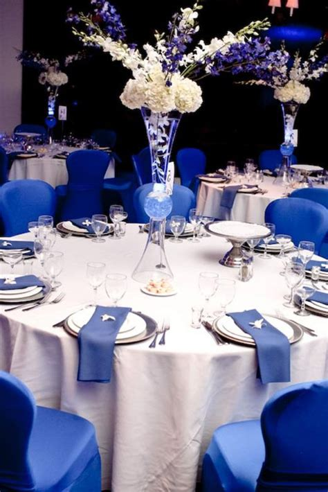 royal blue and white wedding decoration homemade party