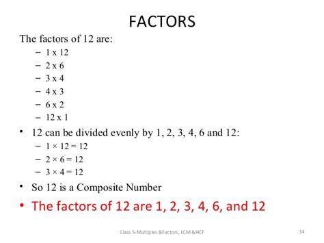 worksheets on multiples and factors for grade 4