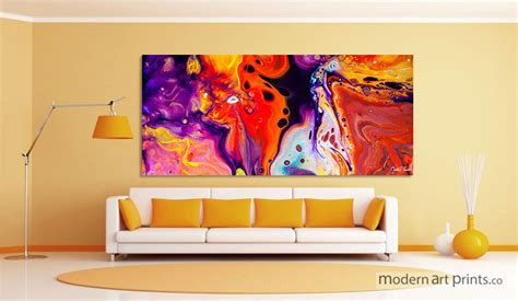colorful wall living room wall abstract colorful painting modern prints home