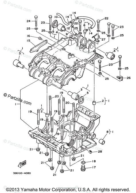 yamaha atv 2005 oem parts diagram for crankcase partzilla com