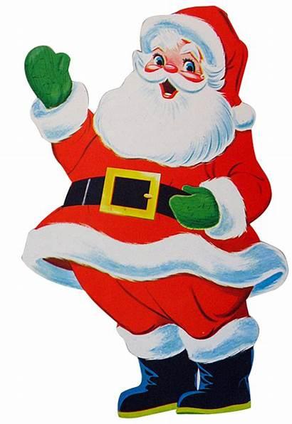 Christmas Clip Retro Santa Clipart Santas Jolly